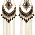 Chandelier Jet Earrings
