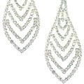 Chevron Diamond Clip Earrings