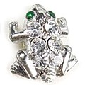 Clear Crystal Frog Toe Ring