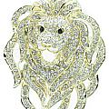 Crystal Roar Lion Brooch