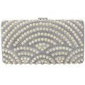 Deco Pearl and Crystal Clutch Bag