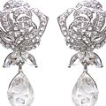 Designer Rosedrop Clip Earrings