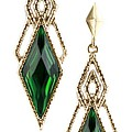 Diamond Emerald Earrings
