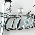 Faith in Silver Brooch