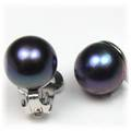 Freshwater Black Pearl Clip Earrings