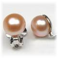 Freshwater Golden Apricot Pearl Clip Earrings