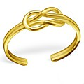 Gold Reef Knot Toe Ring