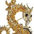 Golden Dragon Brooch