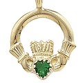 Green Claddagh Pendant