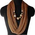 Brown Infinity Jewellery Scarf