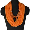 Orange Infinity Jewellery Scarf