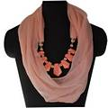 Pink Infinity Jewellery Scarf