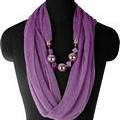 Purple Infinity Jewellery Scarf