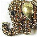 Jumbolaya Gold Elephant Brooch