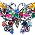 Kaleidoscopia Butterfly Brooch