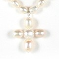 Pearl Angel Cross Necklace