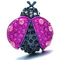 Pink Bug Brooch