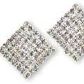 Rhinestone Diamonds Clip Earrings