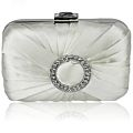 Satin and Crystal Clutch Bag