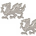 Sterling Silver Dragon Cufflinks