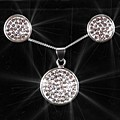 Sterling Silver Disc O Set
