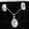 Sterling Silver Crystal Ovaltina Set