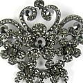 Heavenly Hematite Brooch