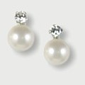 Crystal & Button Pearl Earstuds