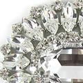 Swarovski Crystal Giant Oval Brooch
