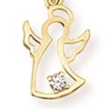 Tiny CZ Angel Pendant