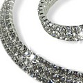 Triple Row Crystal Rock a Hoop Set