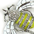 Big Bold Yellow Bee Brooch