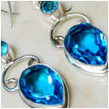Bora Bora Blue Topaz Earrings