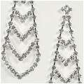 Crystal Chevron Earrings