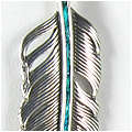 Los Alamos Feather Pendant