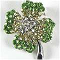 Lucky Four-Leaf Clover Brooch