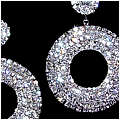 Rhinestone Diva Circle Earrings