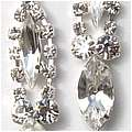 Rhinestone Marquise Earrings