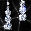 Rhinestone Raindrop Earrings