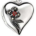 Ruby Red Flower Locket
