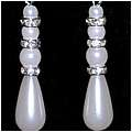 Snow Pearl Cascade Earrings