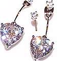 Clear Crystal Heavenly Hearts Earrings