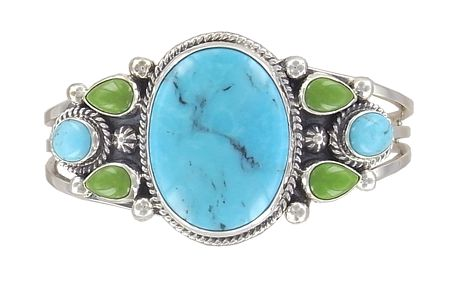 Turquoise Cameo Bangle