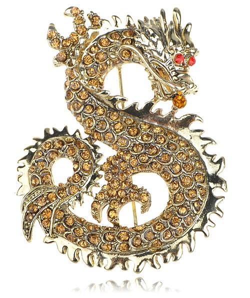 Vintage Dragon Brooch