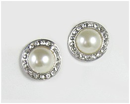 Pearl Rondella Earrings