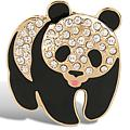 Golden Pomanda Panda Brooch